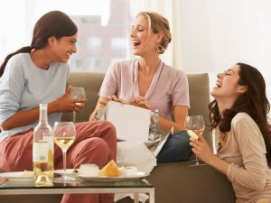 Image result for drinking wine with friends